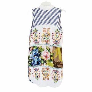 Cyrena Embroidered Sleeveless Shirt Dress Small